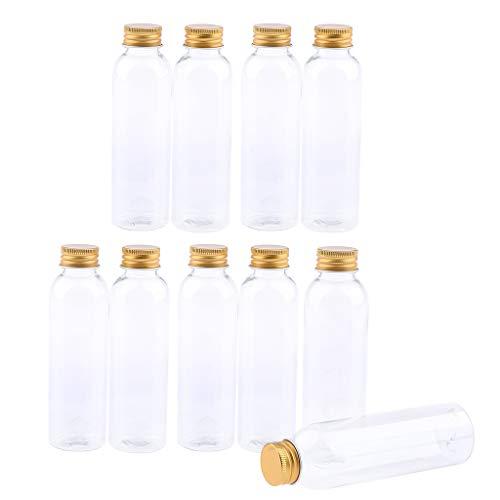 Fenteer 10pcs Flacons En Plastique Bouteilles Scellés Bouteilles de Cosmétiques Échantillons de Pour Parfum Liquide Shampoing avec Couvercles - #2