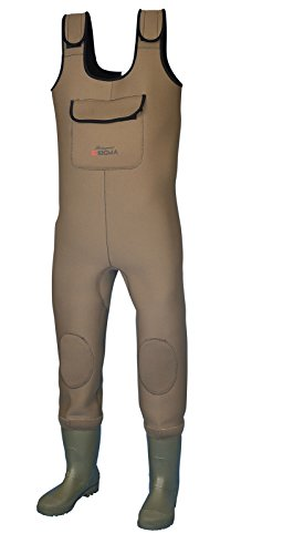 SHAKESPEARE Unisex-Adult Sigma Neoprene Chest Waders, Braun, One Size