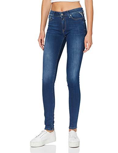 Replay Damen New Luz Jeans, Dark Blue, 28W / 32L