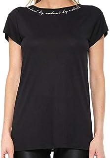Camiseta Fitness Estampada Feminina Preta Colcci