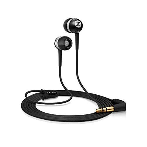 Sennheiser CX 300-II Precision In-Ear-Kopfhörer (1,2 m Kabellänge, 3,5 mm Klinkenstecker, Tragetasche, Earadapterset S/M/L) schwarz