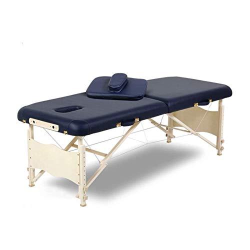 ELXSZJ XTZJ Cama de Masaje SPA Bed 84 Pulgadas Portátil de Largo 2 Plegables con la Mesa de la Caja de la Caja de la Caja del salón Ajustable de la Cama de la Cama de la Cama de la Cara