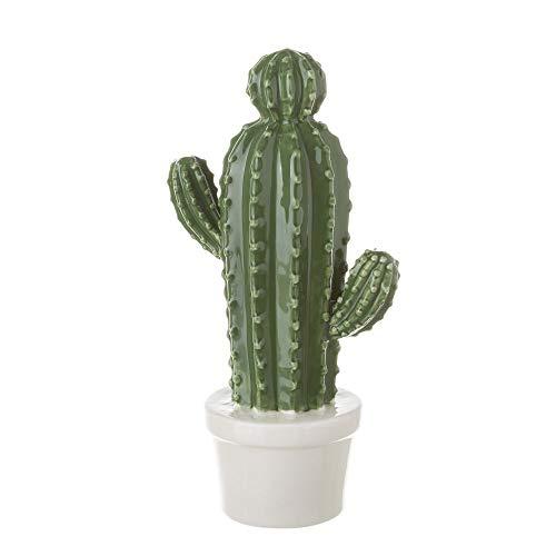 Dcasa - Macetas Ceramica Cactus Verde Decorativa