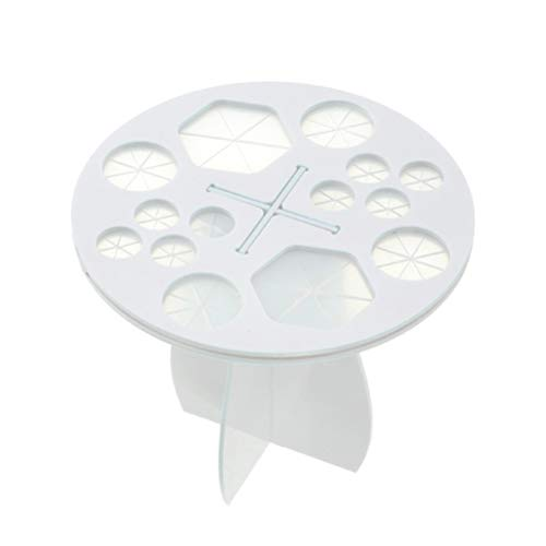 Lurrose Support de Séchage Acrylique pour Pinceaux de Maquillage en Acrylique Rond Séchage pour Organisateur de Pinceaux de Maquillage (blanc)