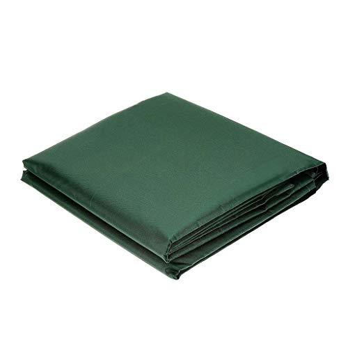 Running Fundas para muebles de jardín, impermeables, antirayos UV 210D, tela Oxford verde, cuadrada, para muebles de patio, resistente al agua, funda protectora para silla y sofá (210 x 140 x 70 cm)
