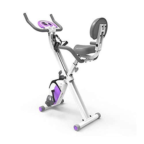 JUUY Bicicleta de Deportes Plegable Interior, Bicicleta Ultra Tranquila controlada magnética, Utilizada para el Entrenamiento de Bicicletas de Ejercicio aeróbico en el hogar
