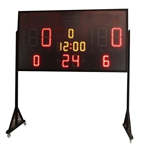 yaunli Tabellone segnapunti Gioco Sport da Basket su Larga Scala Timer segnapunti del tastiere di valutazione del tastierino Capovolgere Il tabellone segnapunti Digitale (Colore : 2, Size : 180x95cm)