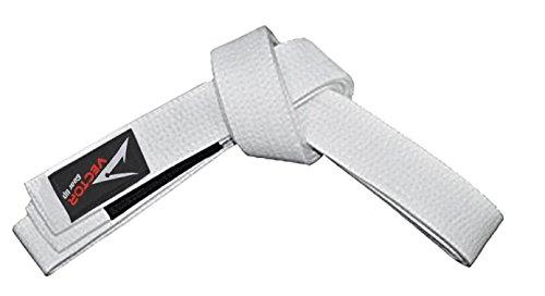 Vector Sports - Cinturón de Artes Marciales Jiu-Jitsu brasileño o BJJ para niños, 100% algodón, K0, Blanco