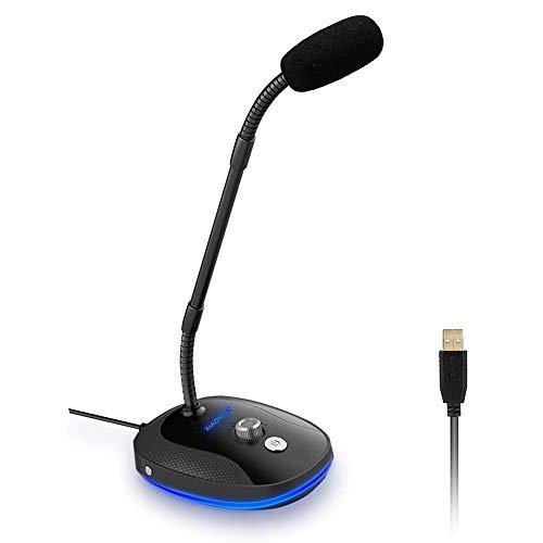 XIAOKOA Micrófono para PC,Micrófono USB para Computadora,Compatible...