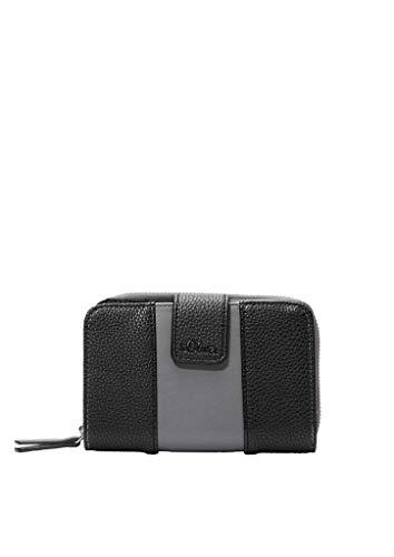 s.Oliver (Bags Damen 39.912.93.2498 Geldbörse, Schwarz (Grey/Black), 1x10x15 cm