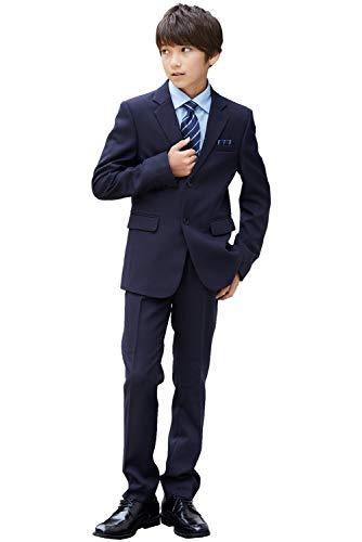 [Ready Freddy(レディフレディ)] 卒業式 スーツ 男の子 5901-5602 レジメンタルタイのベーシックスーツセット 140 150 160 165cm ((シャツ)ブルー, 170cm)