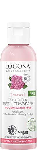 LOGONA Naturkosmetik MOISTURE Pflegendes Mizellenwasser Bio-Damaszener Rose, 125 ml