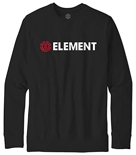 Element Blazin - Sudadera para Hombre Sudadera, Hombre, Flint Black,