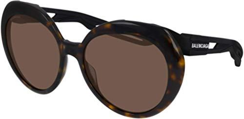 Balenciaga Gafas de sol BB0024S 001 habana brown tamaño de 58 mm de gafas de sol de las mujeres