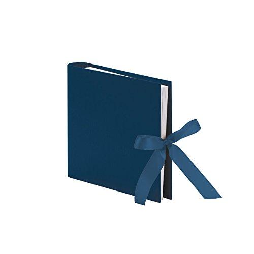 Rössler 13161147906 Fotoringbuch mit Schleife S.O.H.O, 230 x 210 mm, 50 Seiten, Navy, 1 Stück