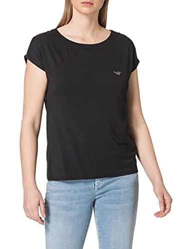 Emporio Armani 164439 1P289 00020 Camiseta, Negro, L para Mujer
