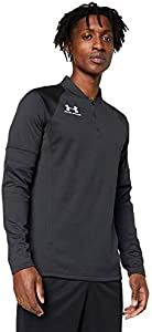 Under Armour Challenger III Midlayer, Camiseta de Hombre para Hacer Deporte, indispensable Ropa de Deportes Hombre, Negro (Black/White (001)), L