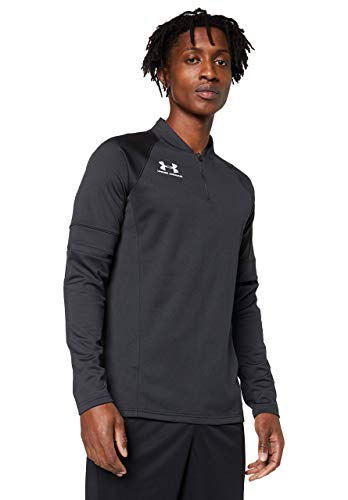 Under Armour Challenger III Midlayer, Camiseta de Hombre para Hacer Deporte, indispensable Ropa de Deportes Hombre, Negro (Black/White (001)), XL