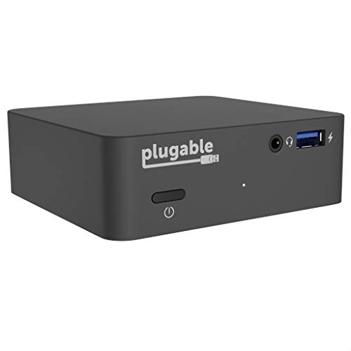 Plugable USB C Dock with 85W Charging Compatible with Thunderbolt 3 and USB-C MacBooks and Select Windows Laptops (HDMI up to 4K@30Hz, Ethernet, 4X USB 3.0 Ports, USB-C PD, Includes VESA Mount)