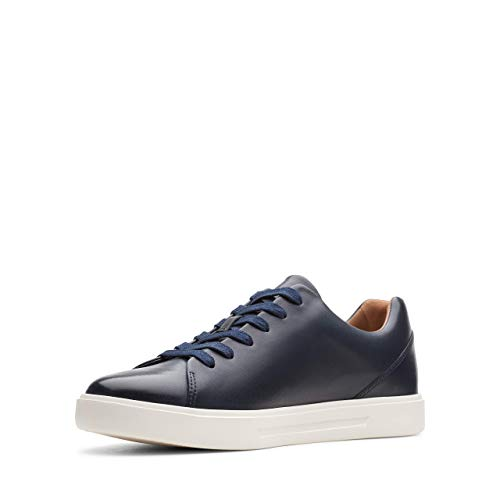 Clarks Un Costa Lace, Scarpe da Ginnastica Basse Uomo, Blu (Navy Leather Navy Leather), 44 EU