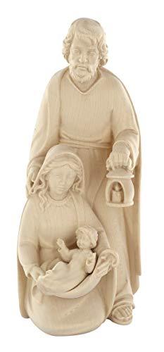 Figuras de Jesús, María y José en Talla de Madera para Nacimiento de 20 cm - Belén Navidad Demetz Deur