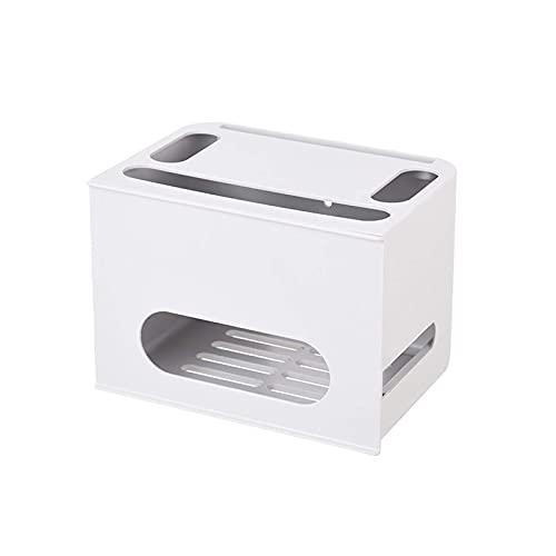 Caja de almacenamiento de enrutador WiFi tipo cajón de doble capa, tablero...