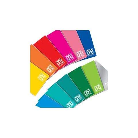 Blasetti One Color, Quaderno formato A5, Rigatura 0B, Righe con margine per 2° e 3° elementare, Carta 80g/mq, Pacco da 10 Pezzi