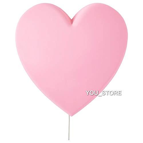 IKEA UPPLYST LED wandlamp hart roze kinderverlichting