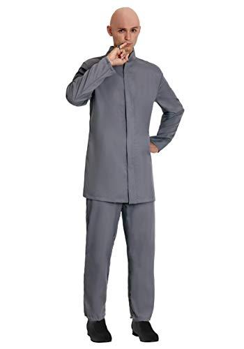 Adult Deluxe Grey Suit Costume Evil Man Suit Outfit X-Large