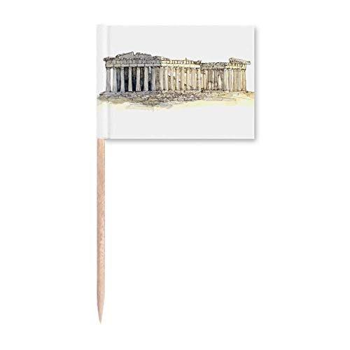 Akropolis von Athen von Griechenland Zahnstocher Flaggen Marker Topper Party Dekoration