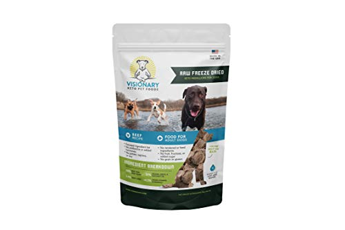 Freeze Dried Dog Food by Visionary Pet |Low Carb Keto Dog Food from Human-Grade Ingredients | Natural Beef Flavor | No Rendered/Feed Ingredients | Natural Dog Food for Lifelong Health (15oz)