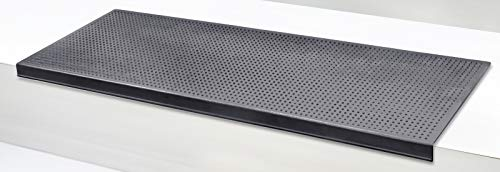 Stufenmatten Jet-Line STAIRS Außenbereiche Treppenmatten Außentreppe Antirutschmatte 25x75cm schwarz Design Antirutsch Gummi Matte mit Winkelkante 75x25 cm