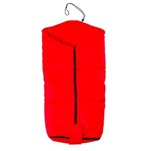 Cochecito de bebé Saco de dormir para automóvil Los pies de paracaídas son a prueba de viento y cálidos, almohadilla de algodón engrosada Cubierta de pie de paisaje alto de invierno rojo