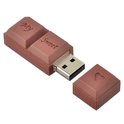 AreTop - Chiavetta USB 2.0, 64 GB, ad alta velocità, memoria flash drive, mini U, disco marrone, 3D, cartoon, buon regalo per bambini e amici