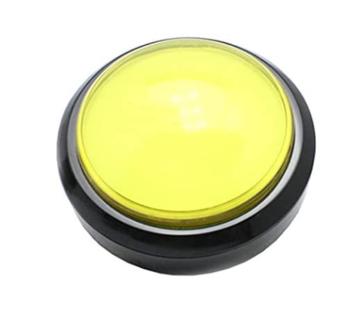 JSJJAWS Interruptor de botón 100 mm Big Botting Botton Botton LED Iluminado con microinterruptor para la máquina de la máquina de Juegos de Arcade de DIY 5 / 12V Interruptor de luz de cúpula Grande