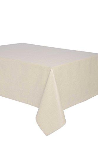 Mantel antimanchas rectangular Olimpia 50% algodón 50% poliéster, resinado y con Teflón de Dupont - 150x300 - Liso beige