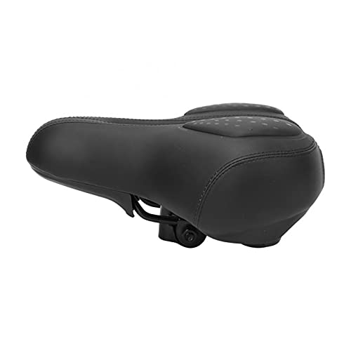 Wh1t3zZ1 Bike Saddle Waterproof Bike Saddle Shock Absorption Damping Seat Saddle with Rear Reflective Strip & Rain Cover Comfortable Bicycle Seat Pad