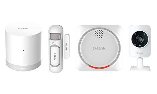 D-Link DCH-107KT Kit di Sistema di Sicurezza Domestico HD Wi-Fi, Sensore per Porte e Finestre, Sirena d'Allarme e Videocamera di Sorveglianza, Bianco
