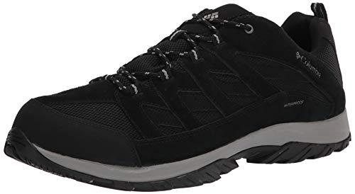 Columbia Men's Crestwood Waterproof Hiking Shoe, Black Grey,...