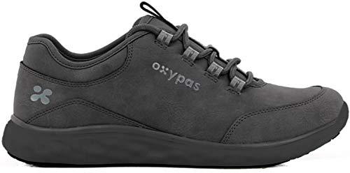 Oxypas 'Patricia' Leichte, bequeme Profi-Schuhe mit Memory-Schaumstoff-Einlegesohle, Anti-Rutsch-SRC und Antistatisch ESD (6,5 UK, Schwarz)