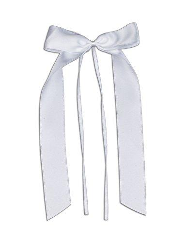FlexiStore 10 Antennenschleifen, Deko Schleifen, Hochzeit, Autoschmuck, Autoschleifen, Weiss