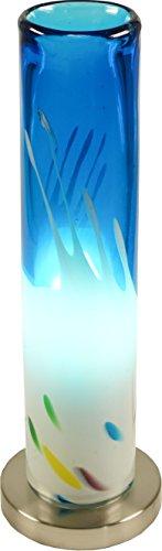 Guru-Shop Tischleuchte Kokopelli - Murano Blau H1368, Glas, 37x12x12 cm, Bunte, Exotische Tischlampen