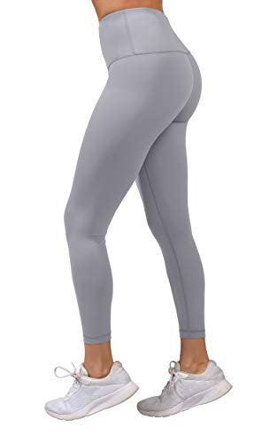 Yogalicious High Waist Ultra Soft Lightweight Leggings -  High Rise Yoga Pants - Lavender Night - XS