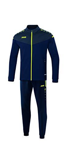 JAKO Herren Champ 2.0 Trainingsanzug Polyester, Marine/darkblue/Neongelb, 4XL