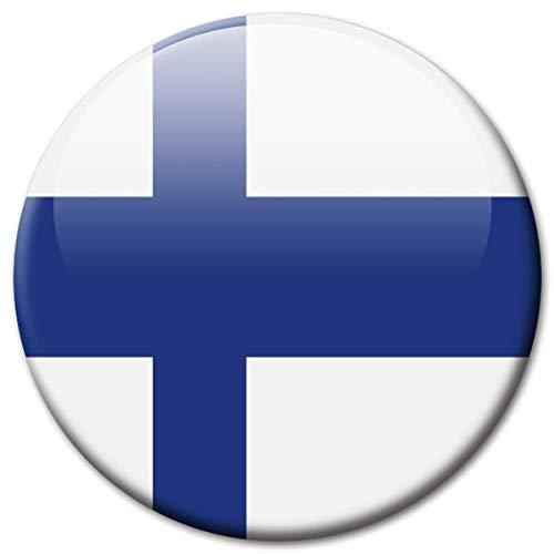 Kühlschrankmagnet Finnland Flaggen Magnet Länder Reise Souvenir Flagge für Kühlschrank stark groß 50 mm