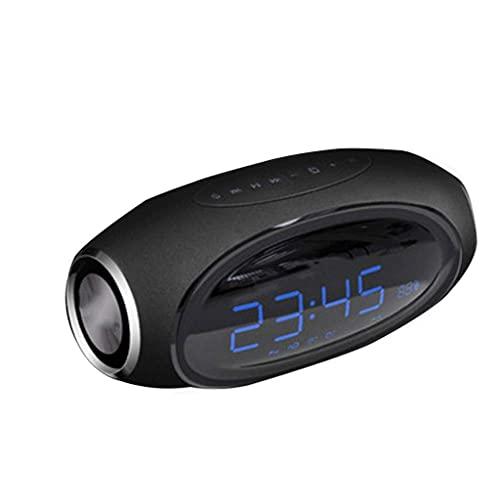 Altavoces portátiles Bluetooth Inicio Reloj despertador inalámbrico Subwoofer de sobrepeso pequeño Altavoz Portátil Inalámbrico Bluetooth Altavoz 3D sonido envolvente volumen volumen sonido altavoz (c