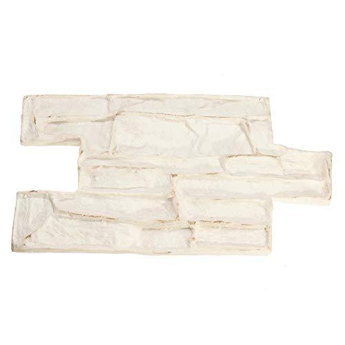 Subobo DIY tuin terras looppad decoratieve steen herbruikbaar beton beton moho drukvoet textuur stempel wit mat eenvoudig te bedienen en doe-het-zelf de beste keuze