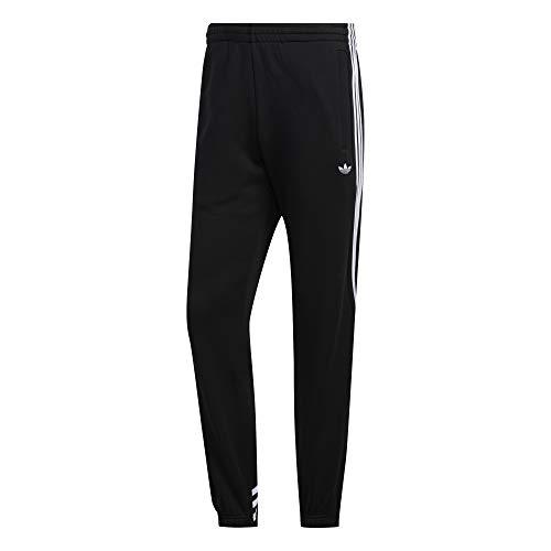 adidas Mens 3stripe Wrap Sw Sweatpants, Black/White, M