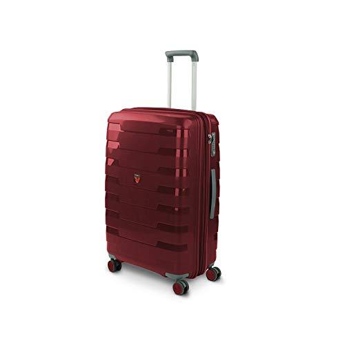 Roncato Spirit Medium Rigid 4 Wheels Red Expandable with TSA Lock 70 x 118 x 28-33 cm