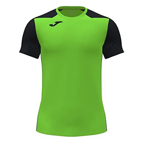 Camiseta Manga Corta Record II Verde flúor Negro